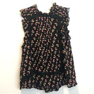 TopShop Floral and Lace Tank NWOT